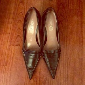 Cathy Jean Pointy Penny Loafers 👞 with stitching